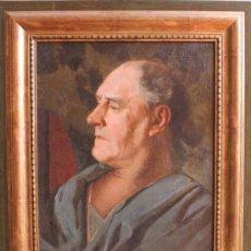 Kunst - ANTIGUO CUADRO OLEO SOBRE LIENZO RETRATO FIRMA FIRMADO I. SIMINSON - 36424699