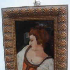 Arte: ÓLEO S/CRISTAL, FIRMADO Y FECHADO EN 1830. DIM.- 33,250X27,250 CMS.. Lote 36450378