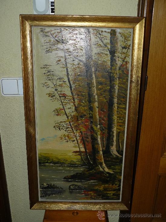 OLEO / TELA - FIRMA ILEGIBLE - PAISAJE (Arte - Pintura - Pintura al Óleo Contemporánea )
