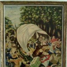 Arte: PINTURA AL OLEO ORIGINAL FIRMADA Y FECHADA EN EL AÑO 1961. . Lote 36470924
