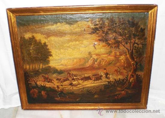 Arte: Oleo sobre Lienzo, S.XIX, Motivo Taurino - Foto 2 - 36476934