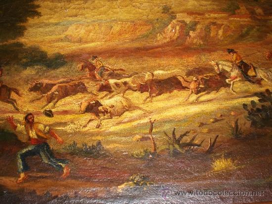 Arte: Oleo sobre Lienzo, S.XIX, Motivo Taurino - Foto 4 - 36476934