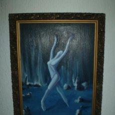 Arte: OLEO MUJER EN PAISAJE ONIRICO S XX. Lote 36487682