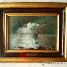 Arte: PINTURA. OLEO SOBRE TABLA FIRMADO: LLAURADO -¿ FRANCISCO LLAURADO RODON -(REUS 1865) -FINALES S. XIX. Lote 36555901