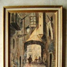 Arte: PINTURA. OLEO TABLA Ó ACUARELA FIRMADA : C. DIEZ - AÑO 1951. . Lote 36558711