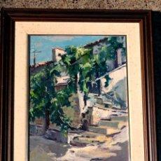 Arte: ÓLEO SOBRE TELA.FIRMADO J.CANADELL.ESCUELA MARTINEZ LOZANO.ART JACQUARD TERRASSA. Lote 36864618