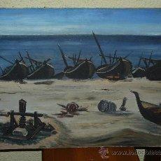 Arte: OLEO / TABLEX - ANÓNIMO - MARINA. Lote 36658758