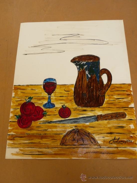JOAN SANTURIO. TECNICA MIXTA. 1990. (Arte - Pintura - Pintura al Óleo Contemporánea )