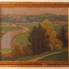 Arte: ANDOR SZÉKELY VON DOBA - GRAN ÓLEO 115,5 X 90 CM - FIRMADO / 1912 - MARCO 133,5 X 108 CM. Lote 36700045