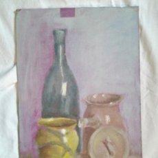 Arte: OLEO SOBRE CHAPA, BODEGON. Lote 36717711