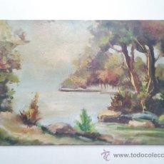 Arte: OLEO SOBRE CHAPA, PAISAJE. Lote 36719523