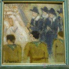 Arte: PERSONAJES. FIRMADO A. M. FECHADO 1930. Lote 36763956