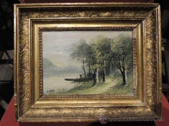 CUADRO PINTADO AL OLEO SOBRE TABLA FIRMADO HENRY (Arte - Pintura - Pintura al Óleo Antigua sin fecha definida)