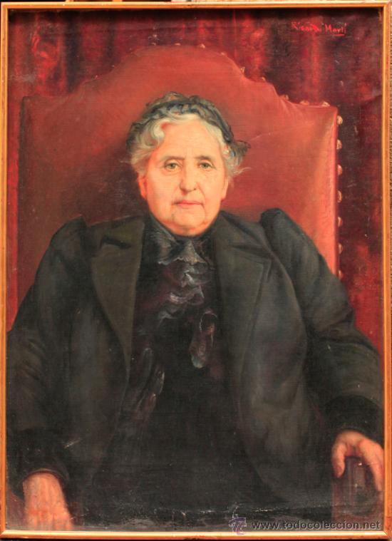 RICARDO MARTÍ. RETRATO DE MUJER, ÓLEO SOBRE TELA 64X87 CM. (Arte - Pintura - Pintura al Óleo Moderna sin fecha definida)