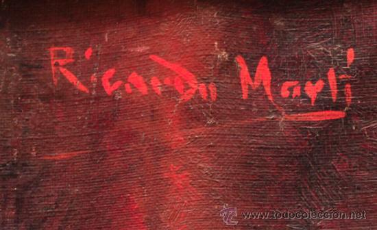 Arte: RICARDO MARTÍ. Retrato de mujer, óleo sobre tela 64x87 cm. - Foto 3 - 36982890