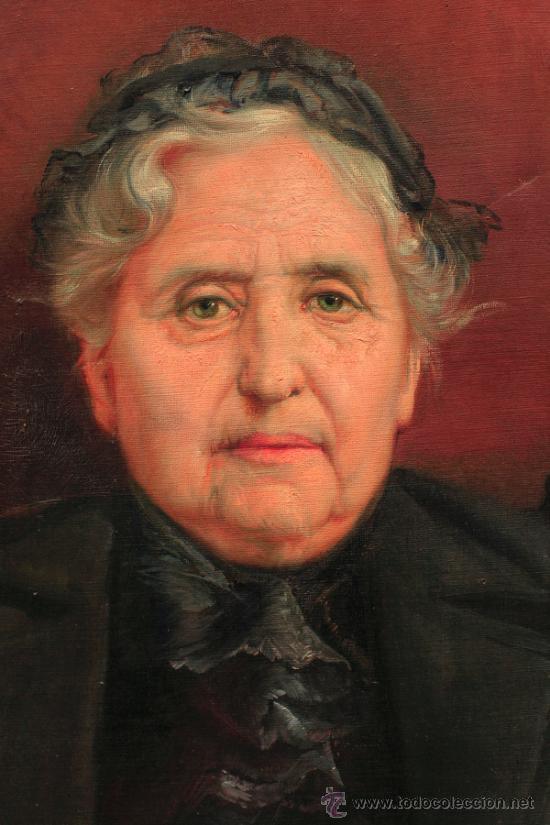 Arte: RICARDO MARTÍ. Retrato de mujer, óleo sobre tela 64x87 cm. - Foto 2 - 36982890