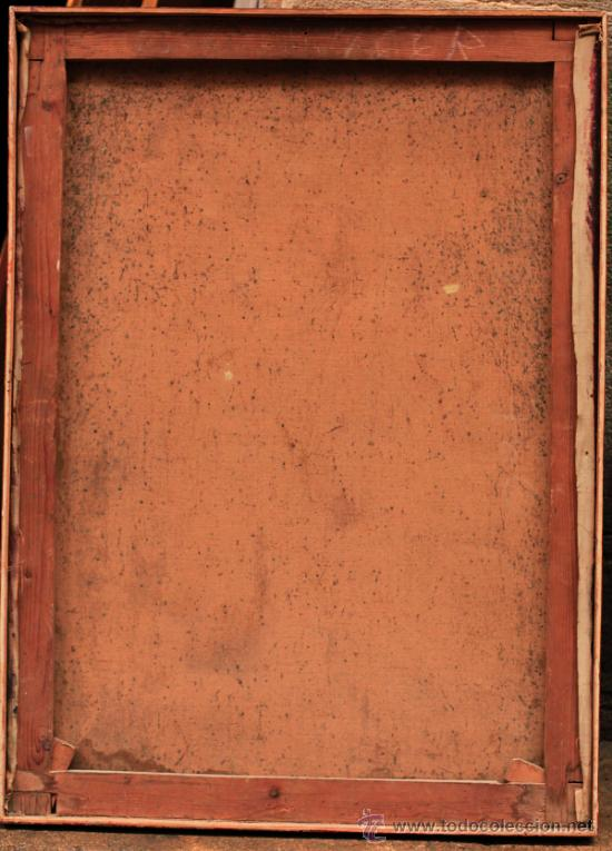 Arte: RICARDO MARTÍ. Retrato de mujer, óleo sobre tela 64x87 cm. - Foto 4 - 36982890