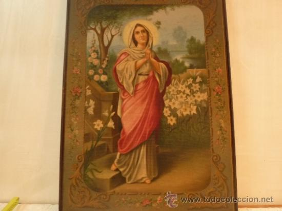 OLEO SOBRE LIENZO SANTA (Arte - Pintura - Pintura al Óleo Moderna siglo XIX)