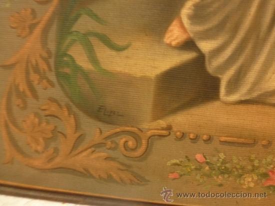 Arte: oleo sobre lienzo santa - Foto 10 - 37006456