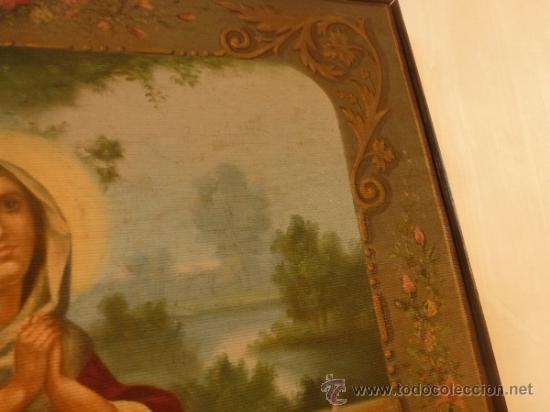 Arte: oleo sobre lienzo santa - Foto 6 - 37006456