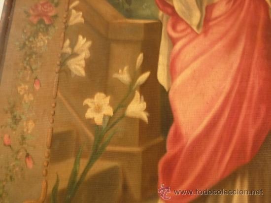 Arte: oleo sobre lienzo santa - Foto 3 - 37006456