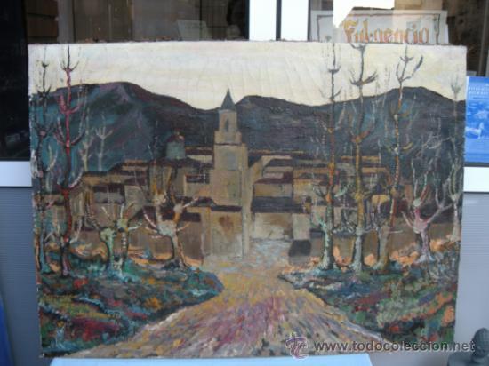 Arte: PAISAJE OTOÑAL. ÓLEO DE MANUEL FRUTOS LLAMAZARES. AÑO 1962. LEÓN 1935, MURCIA 2010. - Foto 6 - 37104211