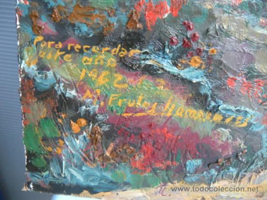 Arte: PAISAJE OTOÑAL. ÓLEO DE MANUEL FRUTOS LLAMAZARES. AÑO 1962. LEÓN 1935, MURCIA 2010. - Foto 7 - 37104211