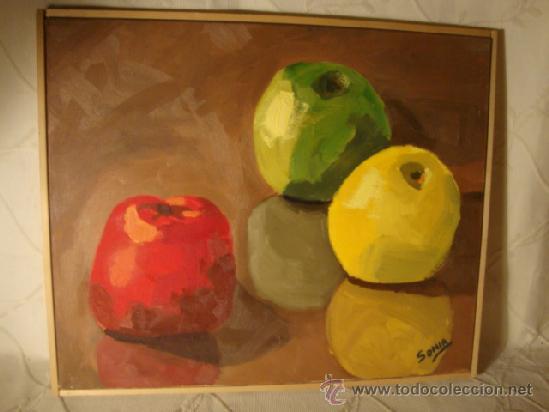 CUADRO PINTURA OLEO SOBRE LIENZO BODEGON, . (Arte - Pintura - Pintura al Óleo Contemporánea )