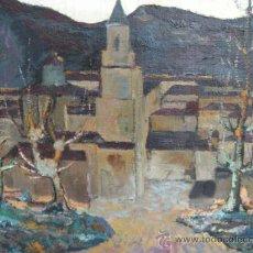 Arte: PAISAJE OTOÑAL. ÓLEO DE MANUEL FRUTOS LLAMAZARES. AÑO 1962. LEÓN 1935, MURCIA 2010.. Lote 37104211