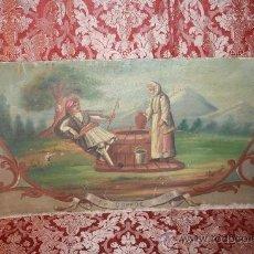 Arte: N3-005 OLEO SOBRE PLANCHA DE ZINC DEL ESTE DE EUROPA - S.XIX - ESCENA CAMPESTRE - FIRMADO. Lote 37119974