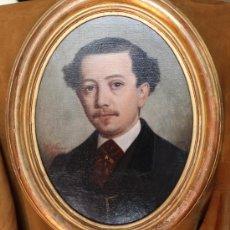 Arte: MALAGA POSIBLEMENTE UN MIEMBRO DE LA FAMILIA LORING RETRATO OLEO FIRMADO FRANCISCO VILARRASA 1863. Lote 37166970
