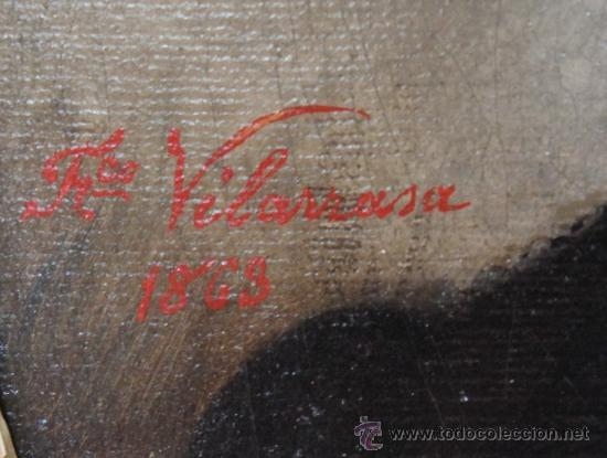 Arte: MALAGA POSIBLEMENTE UN MIEMBRO DE LA FAMILIA LORING RETRATO OLEO FIRMADO FRANCISCO VILARRASA 1863 - Foto 3 - 37166970
