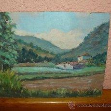 Arte: OLEO / TABLEX - FDO F SERRA - PAISAJE RURAL. Lote 37270507