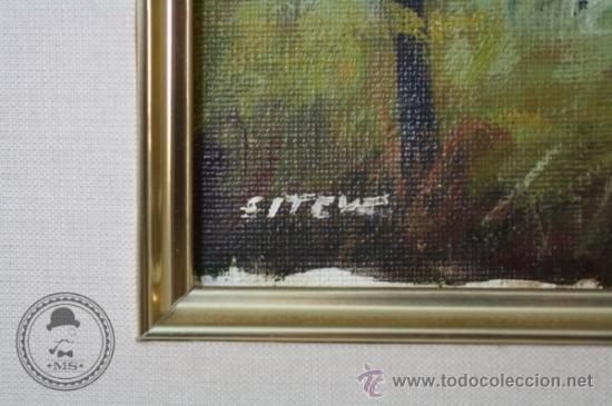 Arte: Pintura al Oleo - Paisaje de Montaña, Bosque - Antonio Esteve Senis - 45,5 x 41 cm Enmarcado - Foto 3 - 37345092