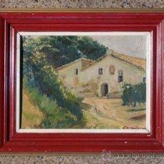 Arte: ÓLEO SOBRE TÁBLEX DEL PINTOR SABADELLENSE PAU CASANOVAS MORRAL.SABADELL JULIO 1956.. Lote 37431298