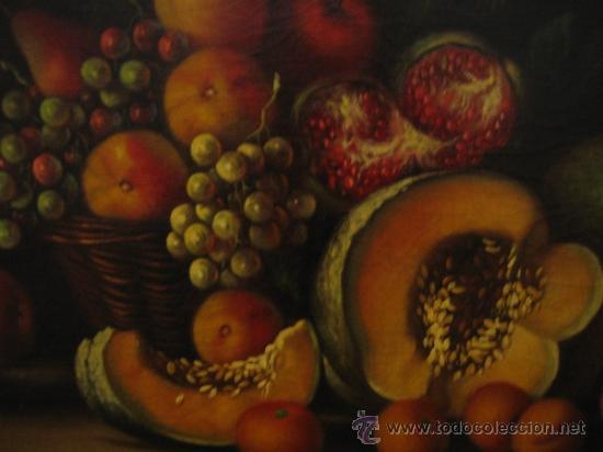 Arte: Bodegon pintado a oleo sobre lienzo. Medidas marco 68x70 y lienzo 50x61 cm - Foto 6 - 54311470