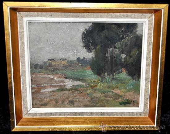 Arte: FRANCISCO LLOP I MARQUÉS (Tortosa, 1873 - Barcelona, 1970) OLEO CARTON. PAISAJE - Foto 1 - 37502451