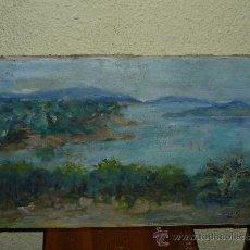 Arte: OLEO / TELA - FIRMADO BERNARDI - 1987 - PAISAJE COSTERO. Lote 37532568