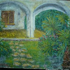 Arte: OLEO / TELA- FDO E. VILELLAS - JARDÍN. Lote 37544901