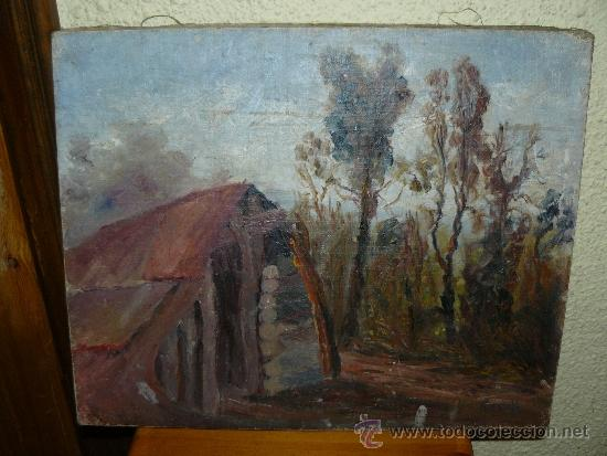 OLEO / TELA - FDO ROSELL - PAISAJE (Arte - Pintura - Pintura al Óleo Contemporánea )