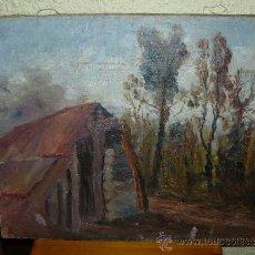 Arte: OLEO / TELA - FDO ROSELL - PAISAJE. Lote 37568492