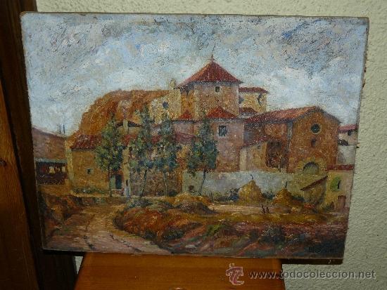 OLEO / TABLEX - FIRMADO BOSCH - PAISAJE (Arte - Pintura - Pintura al Óleo Contemporánea )