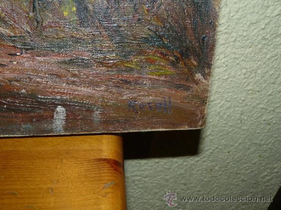 Arte: OLEO / TELA - FDO ROSELL - PAISAJE - Foto 4 - 37568492