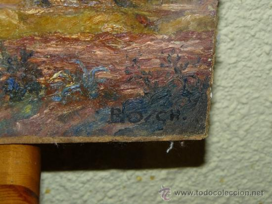 Arte: OLEO / TABLEX - FIRMADO BOSCH - PAISAJE - Foto 4 - 37569209