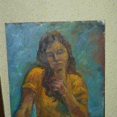 Arte: OLEO / TABLEX - FDO M.G.S. - RETRATO FEMENINO. Lote 37605663