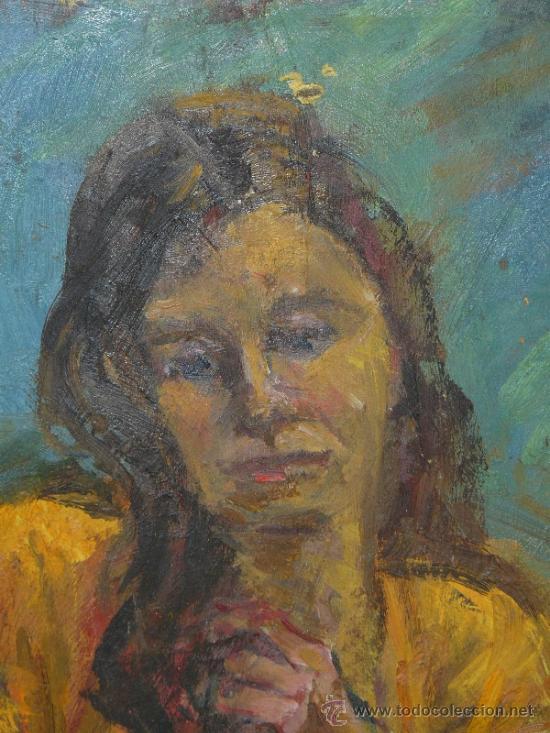 Arte: OLEO / TABLEX - FDO M.G.S. - RETRATO FEMENINO - Foto 2 - 37605663