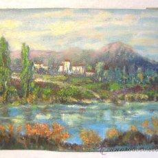 Arte: PAISAJE. OLEO SOBRE CARTON PEQUEÑO FORMATO. AÑOS 50. Lote 37685726