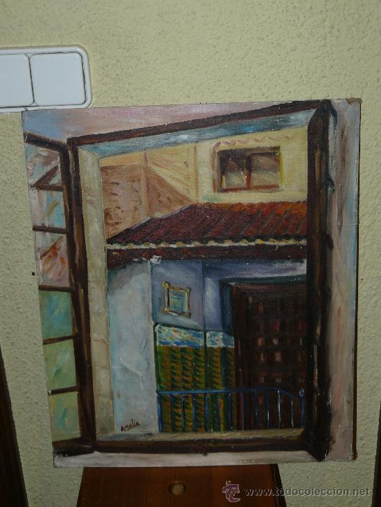 OLEO / TABLILLA ENTELADA - AMALIA - FACHADA (Arte - Pintura - Pintura al Óleo Contemporánea )