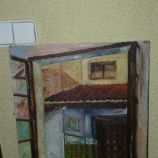 Arte: OLEO / TABLILLA ENTELADA - AMALIA - FACHADA. Lote 37716708