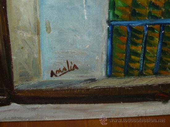 Arte: OLEO / TABLILLA ENTELADA - AMALIA - FACHADA - Foto 4 - 37716708